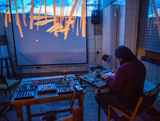 Llull Machines performing live in Gelegenheiten art cafe, Berlin, 2016