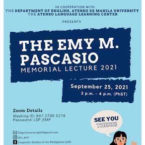 EMP Memorial Lecture 2021