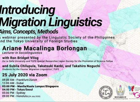 Special Lecture: Borlongan on Migration Linguistics