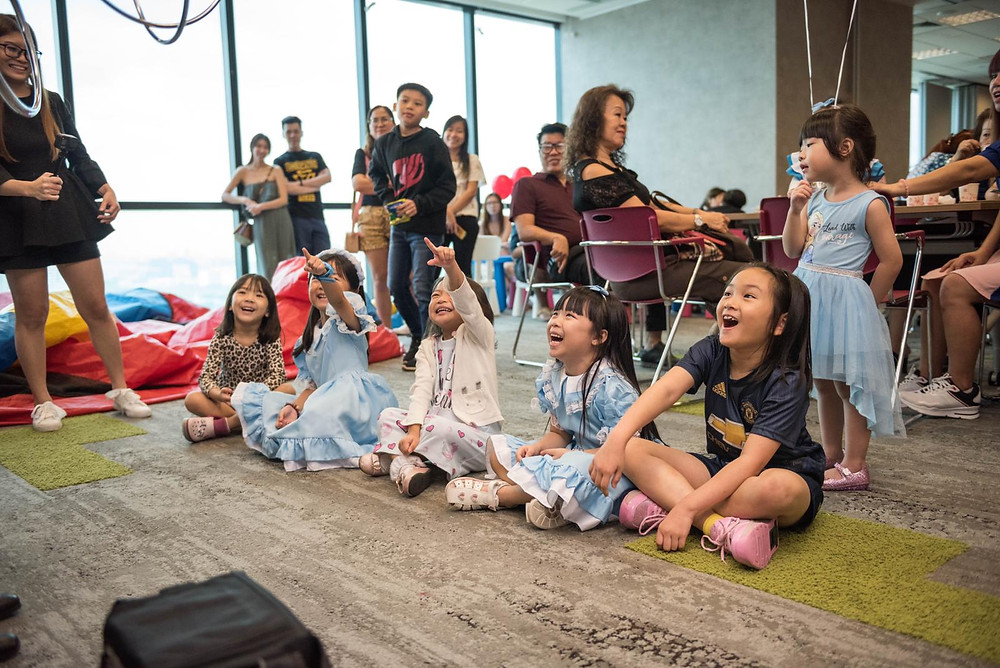 Magic performance for young children