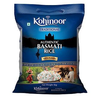Authentic Basmati Rice  KOHINOOR    5kg