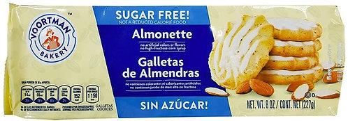 Sugar Free Iced Almonette  VOORTMAN COOKIES   227g