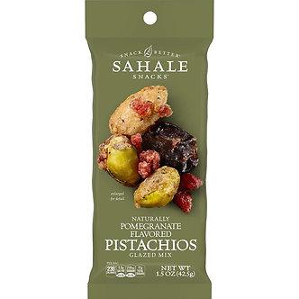 Pomegranate Flavored Pistachios Glazed Mix SAHALE SNACKS     1.5oz