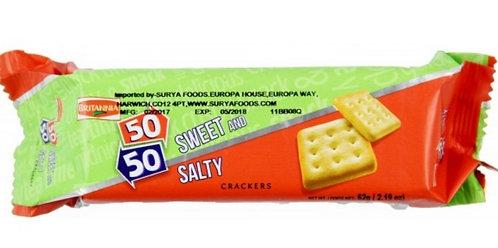 50-50 Sweet & Salty  BRITANNIA    62g