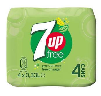 7-Up Free x4   330mlx4