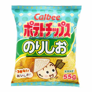Seaweed Flavoured Potato Chips CALBEES   55g