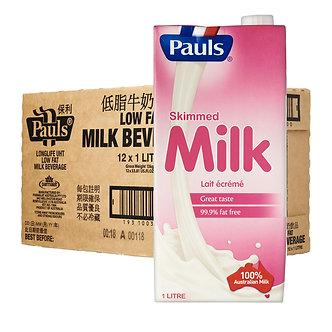 Pauls Skimmed Milk 1 Carton (12pcs)
