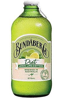 Diet Lemon Lime Bitter BUNDABERG  375ml