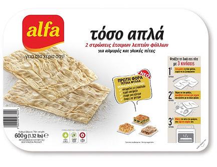 Crust Filo Pastry Sheets ALFA   10Pcs