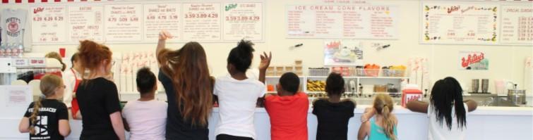Children in Bethany's Therapeutic Recreation Program visit Whitey's Ice Cream