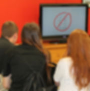 Youth watch a video about consent.