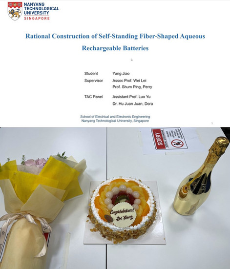 Jiao YANG Defended Her Ph.D. Thesis, Congrats, Dr. YANG!