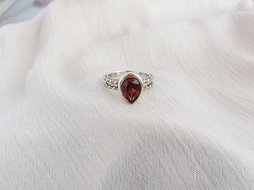 Twist Garnet Ring