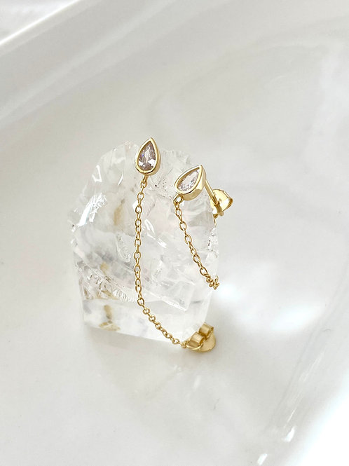 Lily Chain Studs
