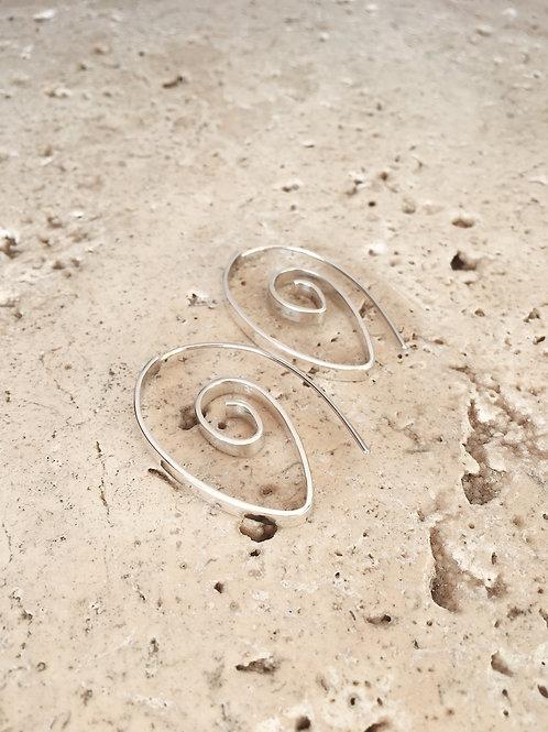Theta Flat Spiral Earrings