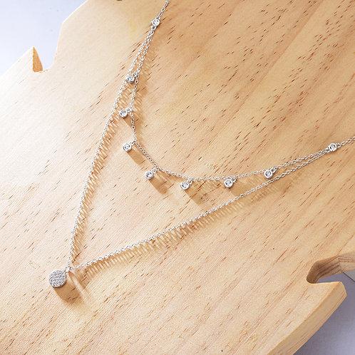 Silver Pago Necklace