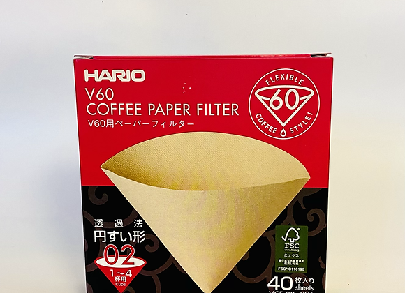 Hario Paper Coffee Filters- Pack of 40