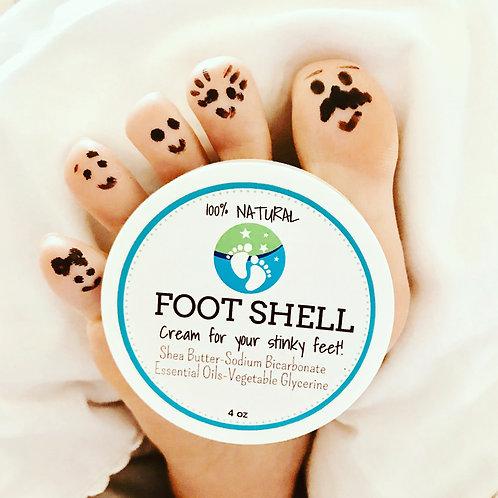 FootShell Cream for Stinky Feet 4oz
