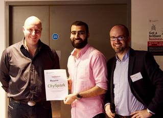 Hoodini wins the £1000 Green Award at CitySpark UK.