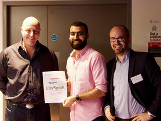 Hoodini wins the £1000 Green Award at CitySpark UK.
