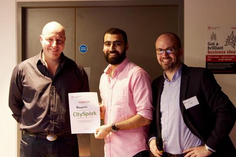 Umar Qamar Getting Award at Cass Business School London