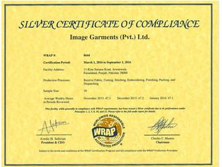WRAP Certificate Renewed!