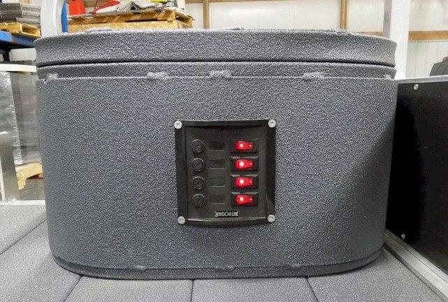Box # 1 is Port side w/ switch panel & trolling motor plug