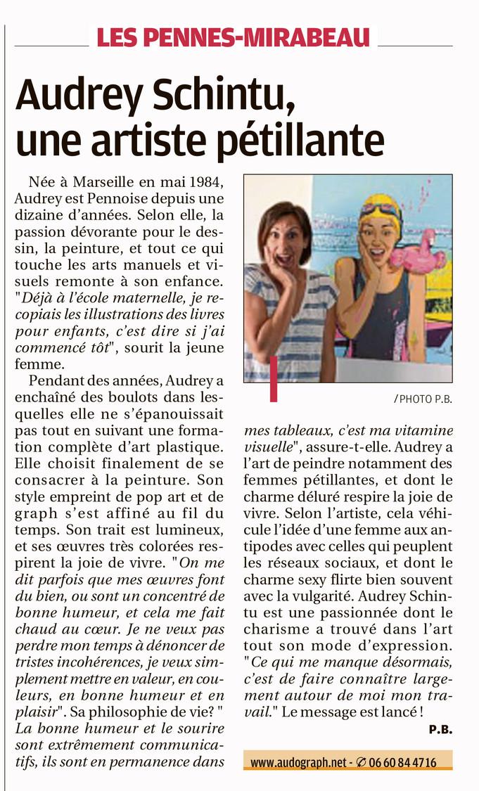 Article du journal La Provence Vitrolles-Marignane