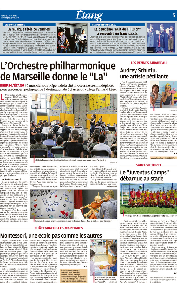 Page du journal La Provence Vitrolles-Marignane