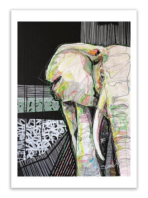 "Poster ""Sagesse d'éléphant"""