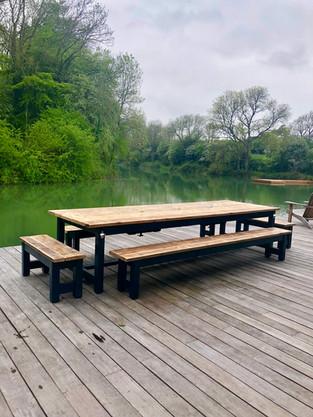 Prosecco Patio Table & 4 Benches