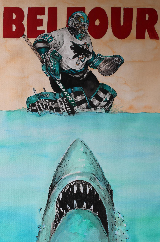 Ed Belfour ; San Jose Sharks
