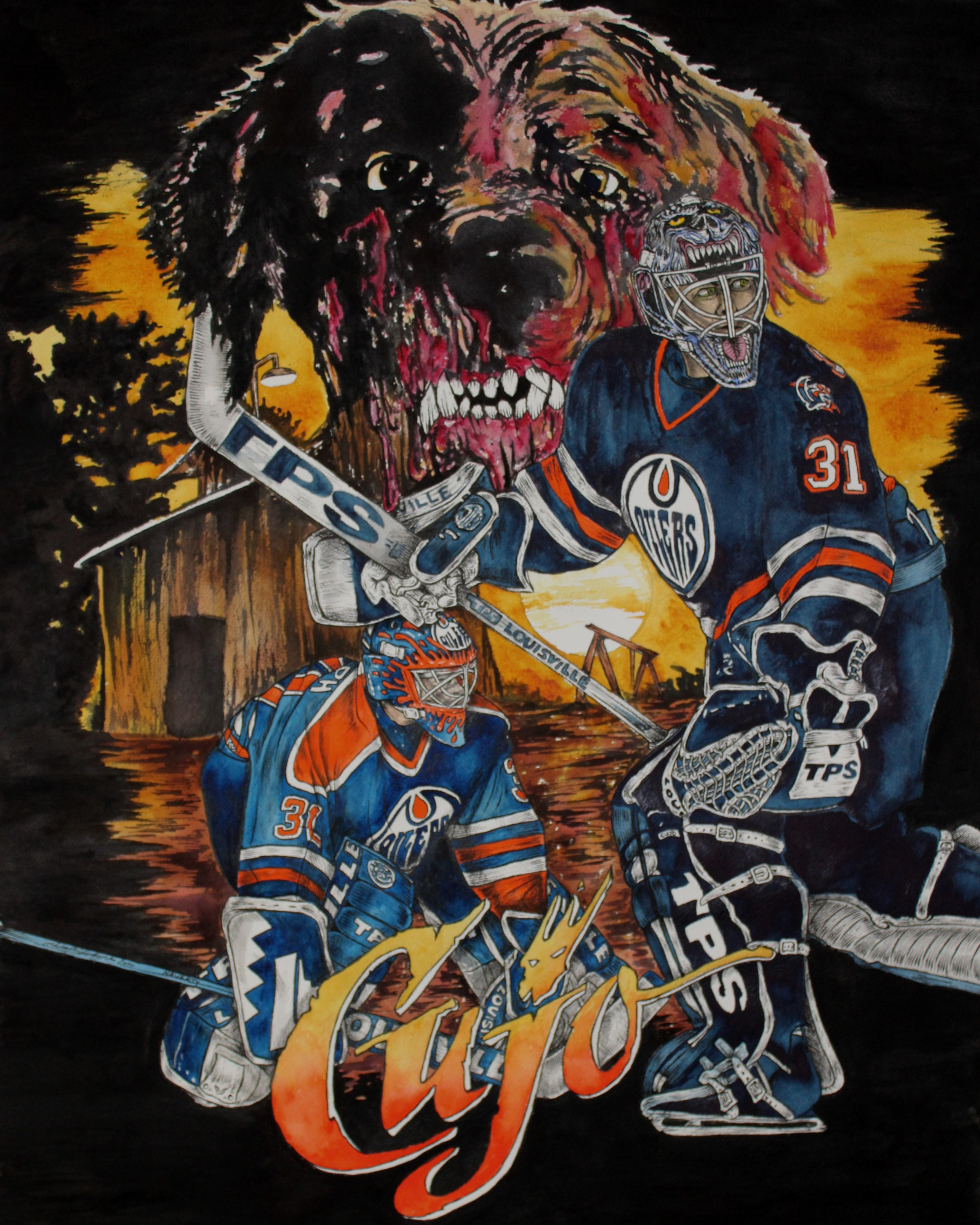 Curtis Joseph ; Edmonton Oilers