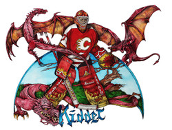 Trevor Kidd ; Calgary Flames