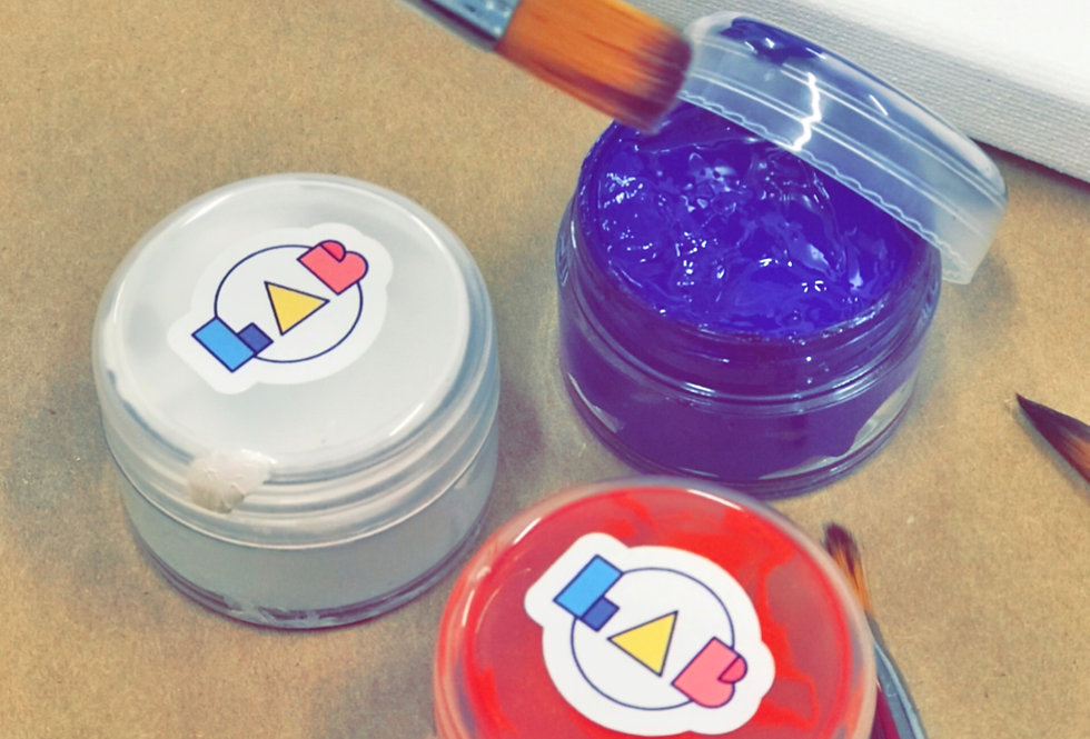 Acrylic Paint Jars