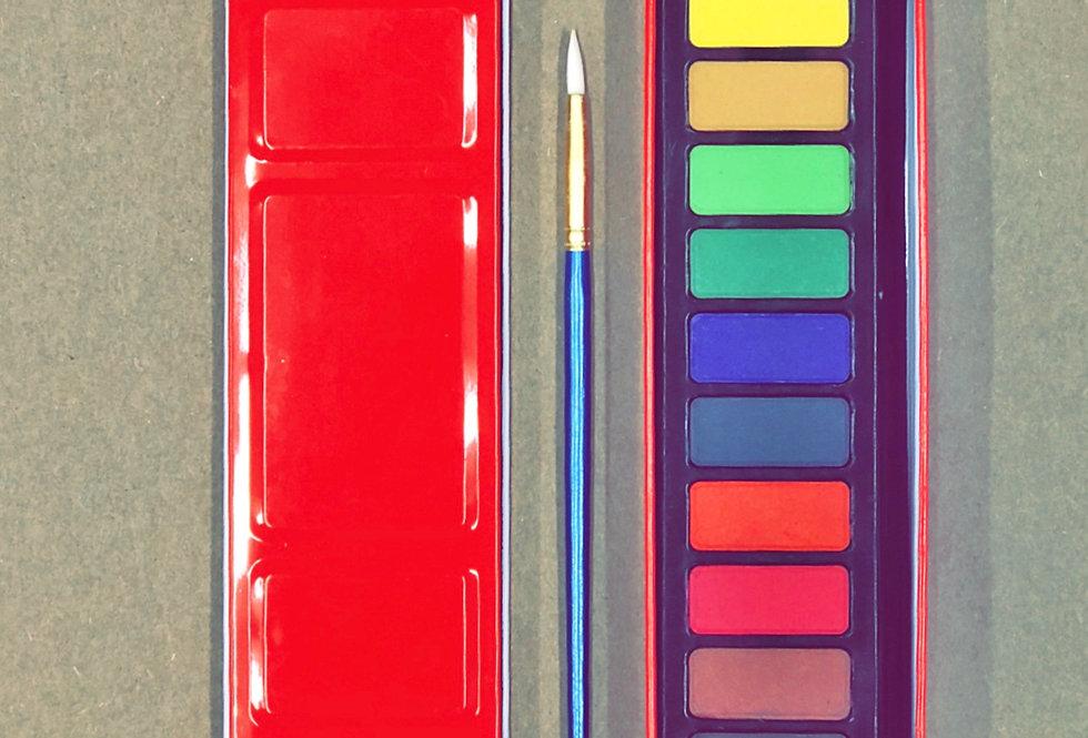 12-Colour Watercolour Pan