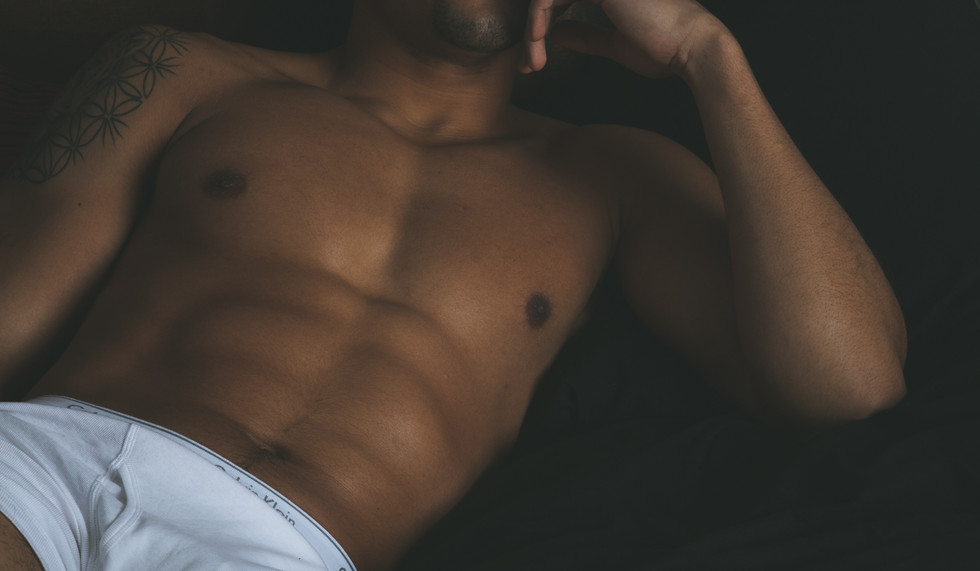 Ripped body undressed