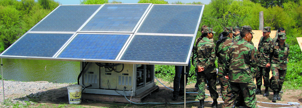 solar powered watermakers by Trunz for Military