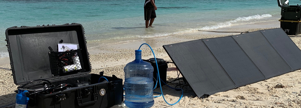 drinking water anywhere - solar powered desalination