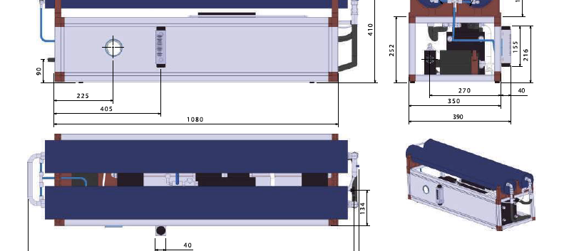 Schenker marine watermaker Modular 230ltr per hour dimensions