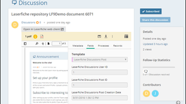 An Exploration of Laserfiche Discussions