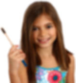 girl-holding-dr.damicos-bamboo-toothbrus