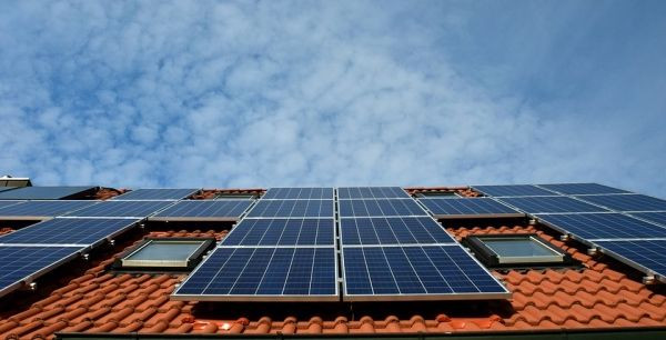 picture of solar panels on a rooftop