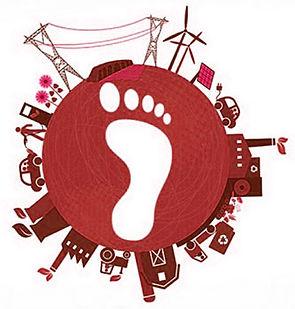 Carbon footprint illutration