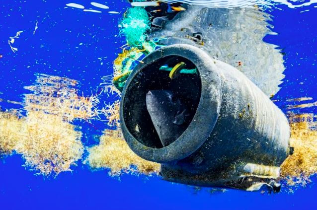 plastic trash in the ocean
