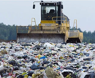 bulldozer in a landfill - what is biodegradable