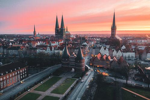 Deutschland - Stadtpanorama Lübeck