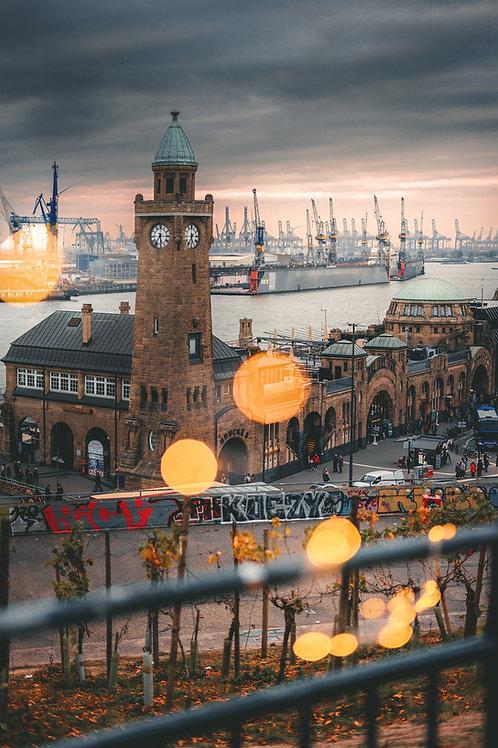 Hamburg - romantische Landungsbrücken
