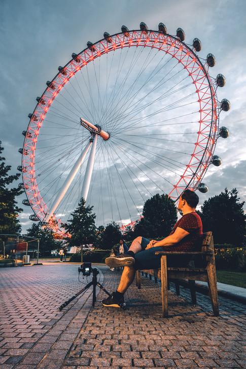 London - The London Eye BTS