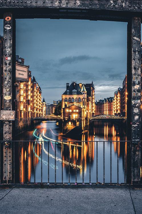 Hamburg - Wasserschloss bei Nacht
